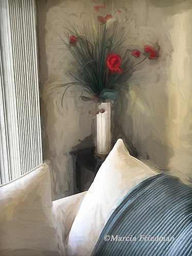 Red Flowers in a Vase