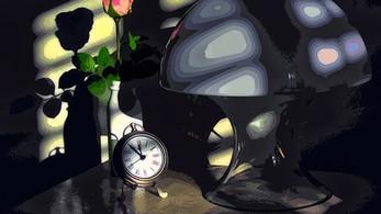 A Midnight Light & Rose