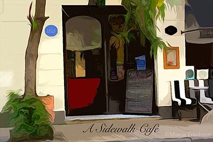 A Sidewalk Café in Buenos Aires