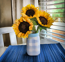 Sunflowers by the Window