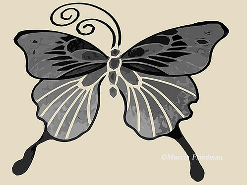 Butterfly in Shades of Gray