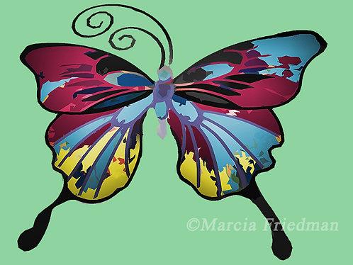 Butterfly in Rose & Blues