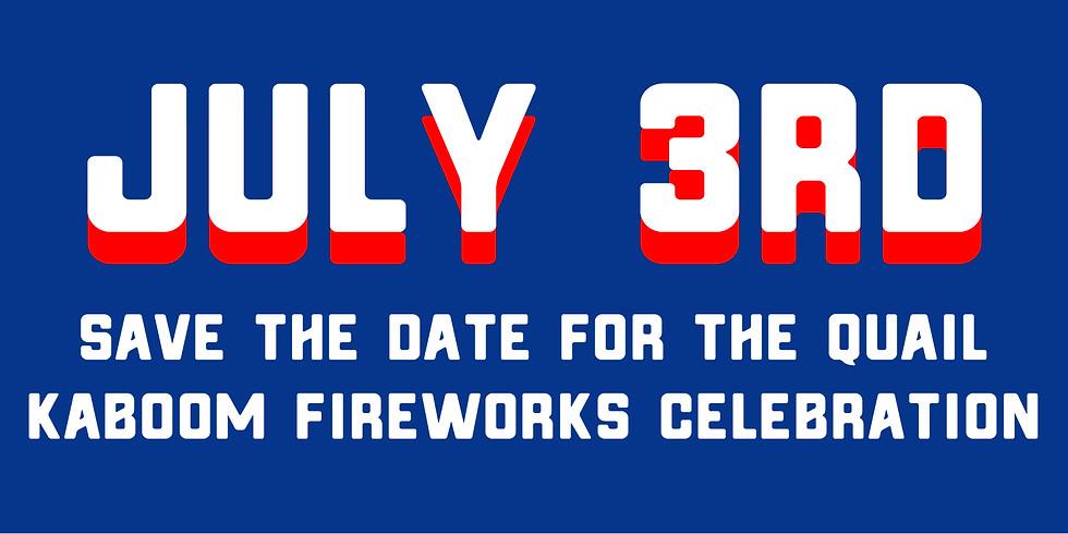 July 3rd Quail Creek Firework Celebration
