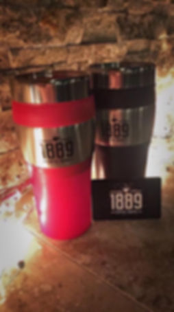 1889 Coffeee House Helna Montana coffee tumblers and gift cards