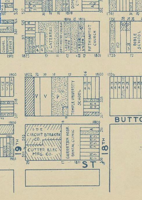 Garretson 1942 land use map.png