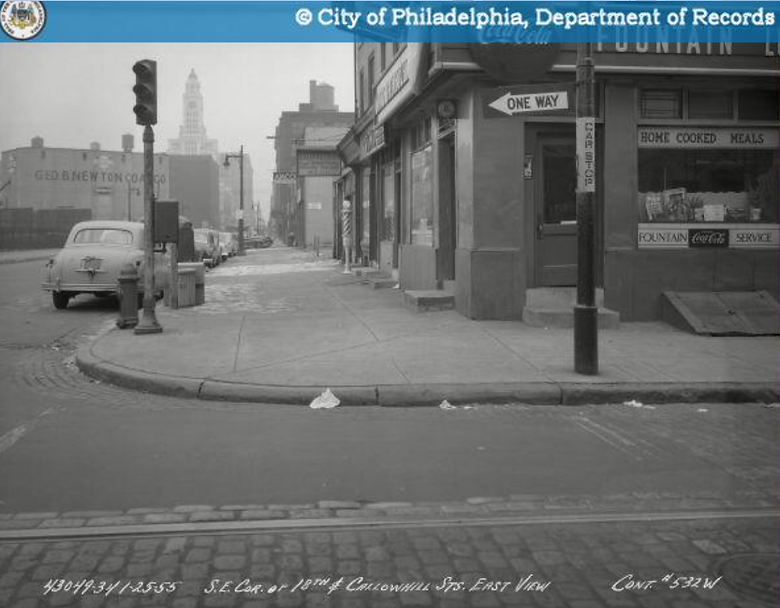 se corner 18th and callowhill 1955 lunch