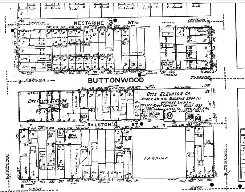 hamilton town homes 1950 sanborn v4 plat