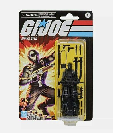 Hasbro G.I. Joe Retro Collection Snake Eyes 3.75-Inch