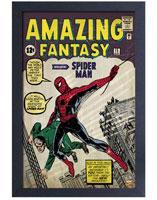 Spider-Man Amazing Fantasy #15 Comic Cover Framed Art Print