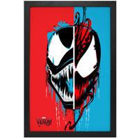 Venom and Carnage Split-Face Framed Art Print