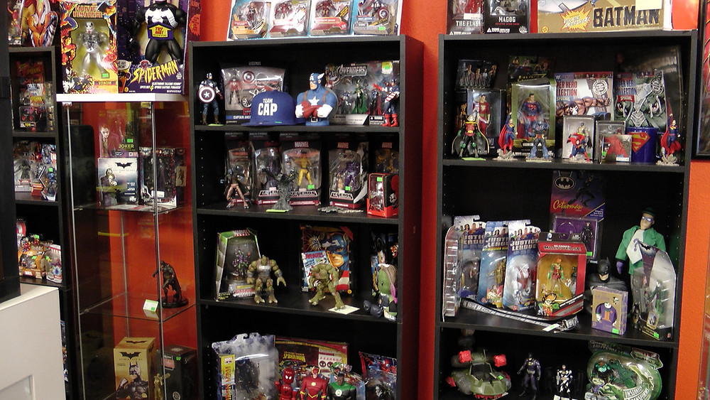 Marvel and DC toys and figures
