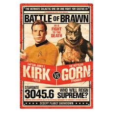 Star Trek Kirk vs. Gorn Tin Sign