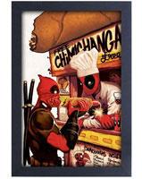 Deadpool Chimichanga Truck Framed Art Print