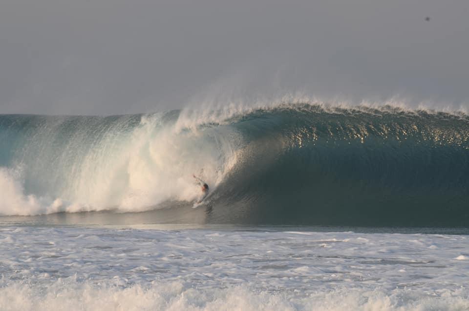 Ryan Masters bodysurfing Playa Zicatela.