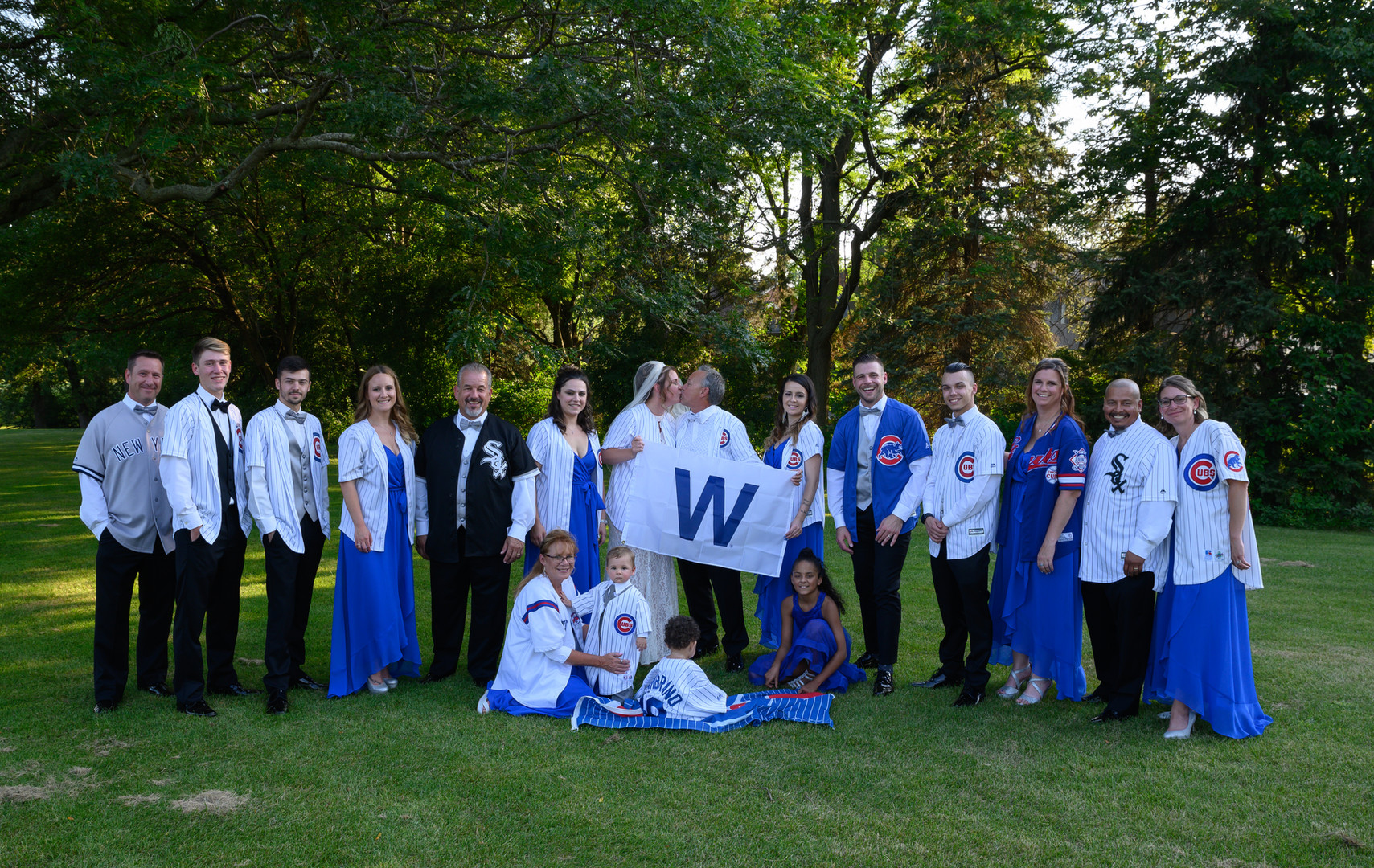 wedding photography Chicago Cubs Darien