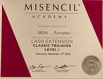 Misencil Canada Lashextension Certificate