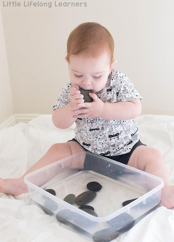 Pebble and Water Sensory Tub