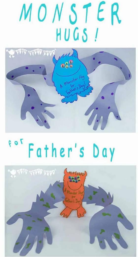 Father's Day Card - Monster Hug