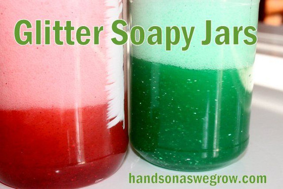 Soapy Sensory Jars