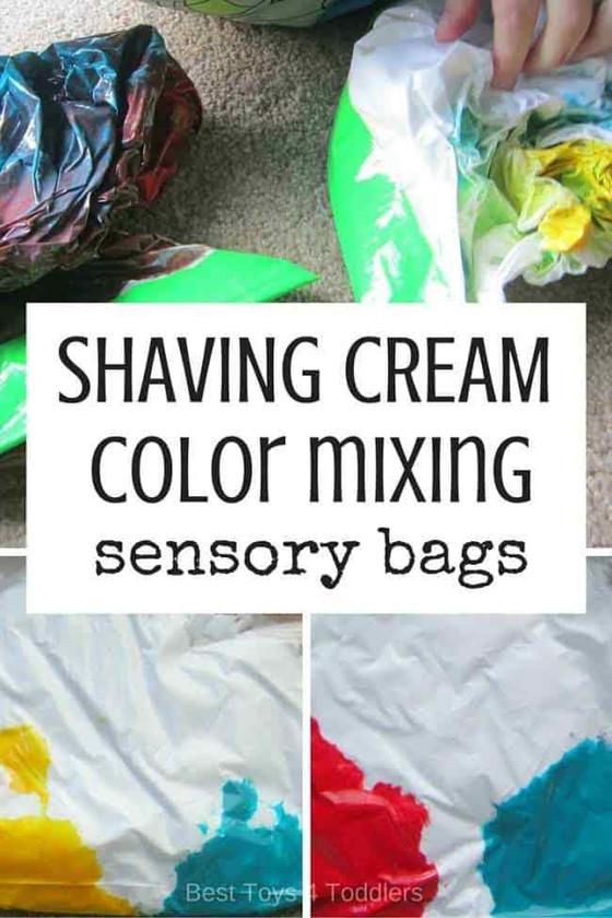 Shaving Cream Sensory Bags