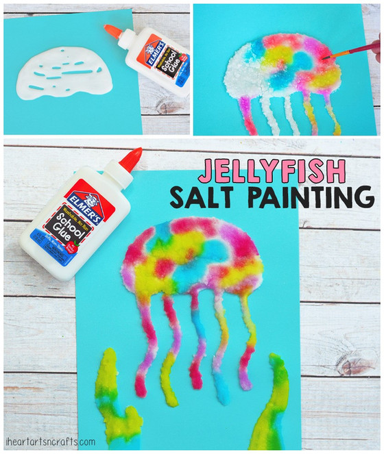 Jellyfish Salt Painting