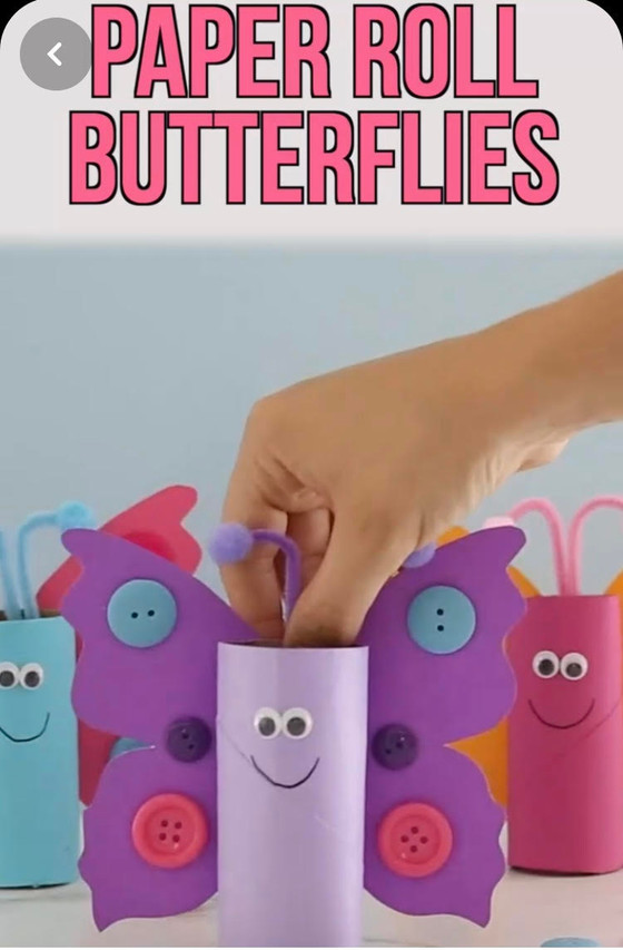 Paper Roll Butterflies