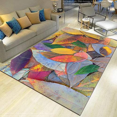 Carpet protector (Spring leaves design) 160*250 cm - حافظه سجاد