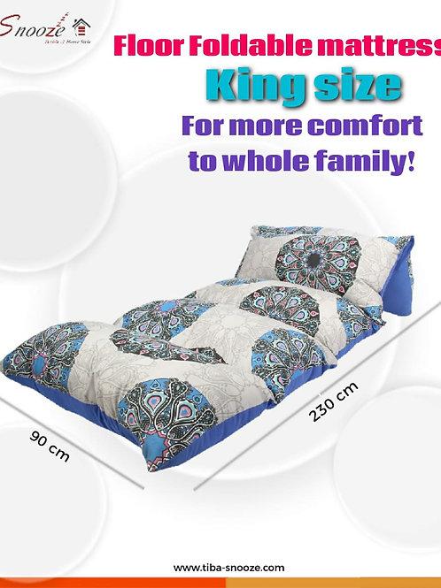 Floor Foldable  mattress (Motifs Circles design) - مرتبه أرضيه قابله للطي
