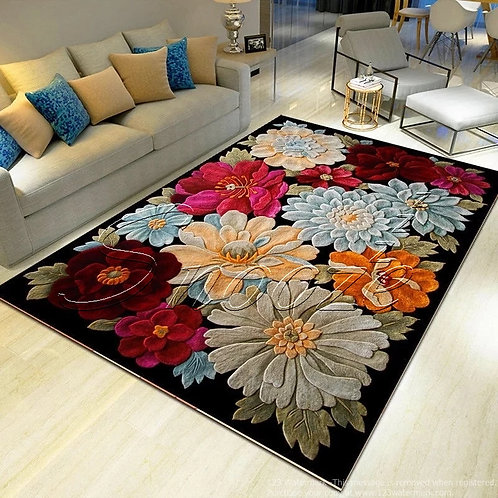 Carpet protector (Flowery design)- حافظة سجاد