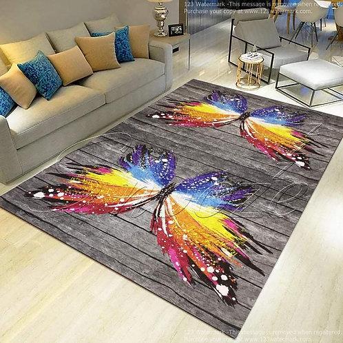 Carpet protector (Rainbow butterfly design) 160*250 cm - حافظه سجاد