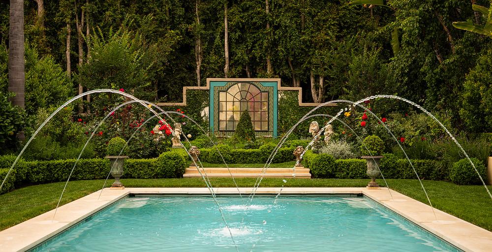 Hoffman Ospina Villa Style Pool Fountain