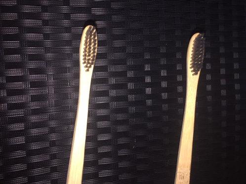 Brosse à dents MEDIUM bambou noir -Adulte