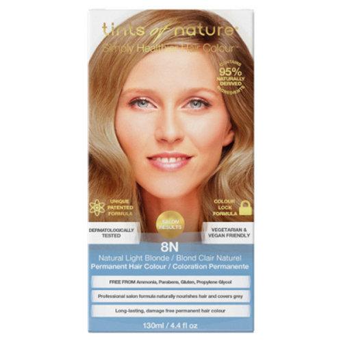 Coloration permanente blond clair naturel 8N BIO