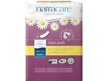Natracare - serviettes hygiéniques naturelles 10 (nuit) (puissance 4)