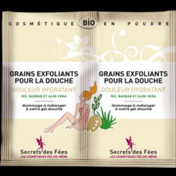 grains exfoliants pour la douche douceur hydratant 2x5g