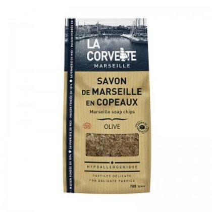 SACHET DE SAVON DE MARSEILLE EN COPEAUX OLIVE - 750 G