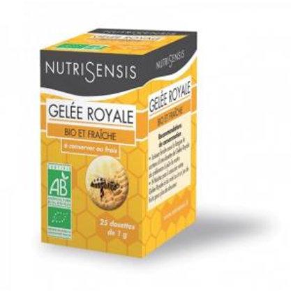 Gelée royale fraîche bio 25 dosettes de 1g nutrisensis