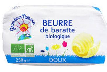 Beurre de baratte doux bio 250g grandeur nature