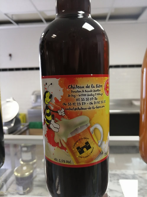Bière ambrée - Miel de châtaignier - 75cl