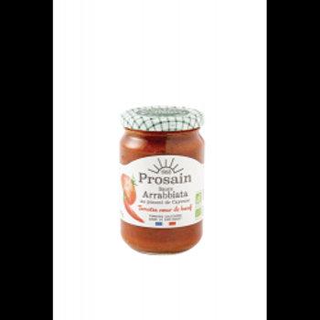 sauce arrabbiata tomate,légumes et piment de Cayenne 295 gr