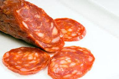 Chorizo doux - 12 tranches (en chiffonnade)