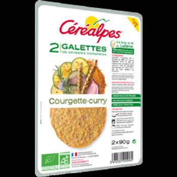 GALETTES COURGETTE-CURRY (2 X 90 G)