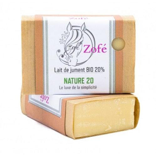 savon nature 20% lait de jument 100gr