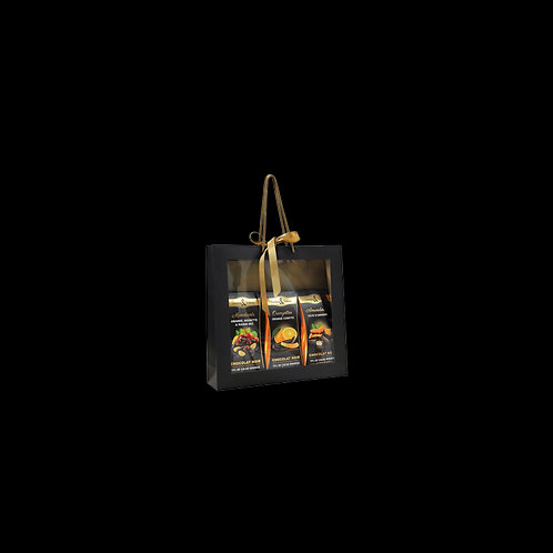 GRAND SAC CADEAU GARNI 3 BALLOTINS DE 125 G - 375 G
