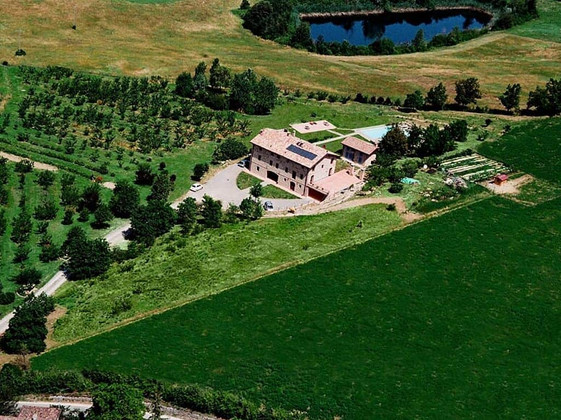 Aerial View of Podere Prasiano