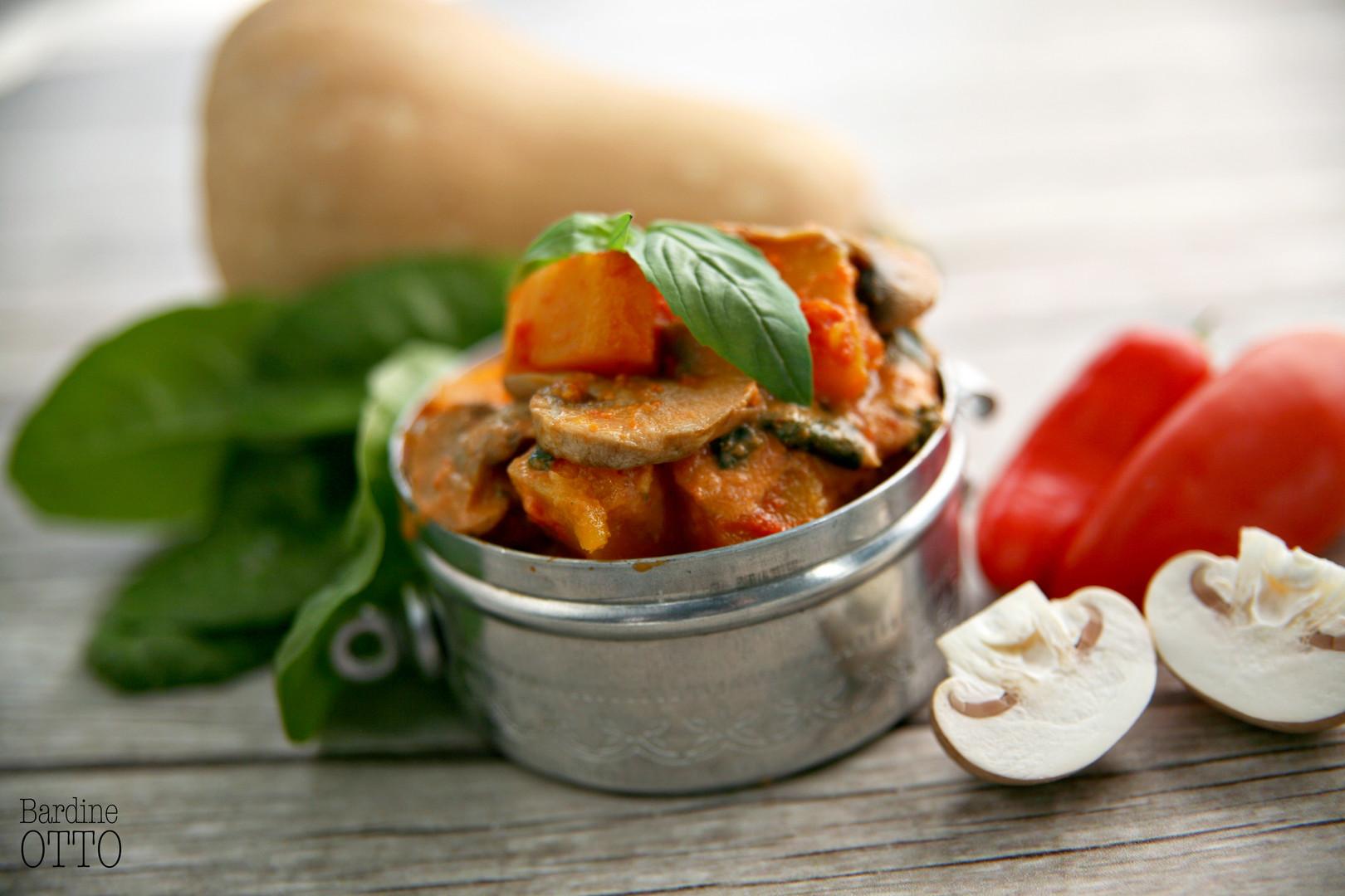Vegetarian Butternut, Spinach & Mushroom Casserole