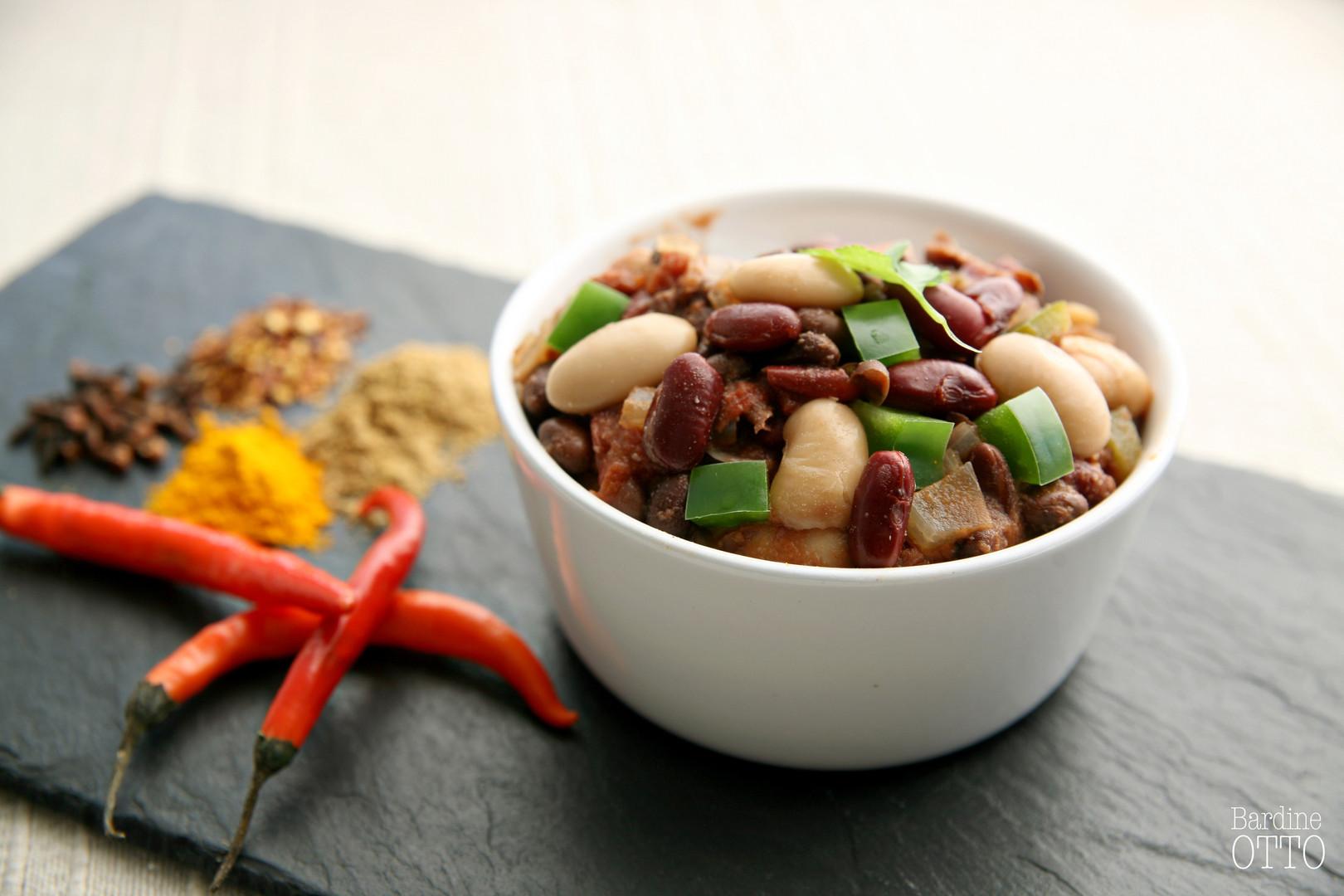 Vegan Three Bean Chilli
