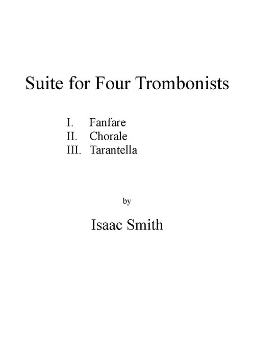Suite for Four Trombonists