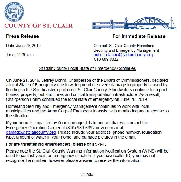 Flooding 2019 | Be Ready St  Clair County