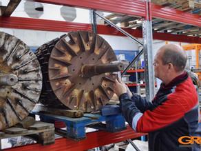 Восстановление шейки ротора вихревой мельницы